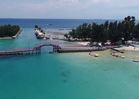 Pantai timur pulau tidung
