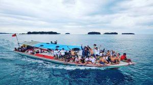 Boat snorkling pulau seribu