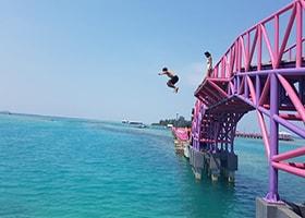 lompat jembatan cinta pulau tidung